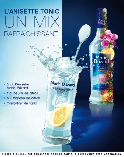 anisette, marie brisard, nouveau mix tonic